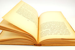 book gammalt Arkivfoton