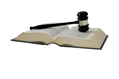 Book and gavel Stock Photo
