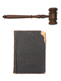 Book and gavel Royalty Free Stock Image