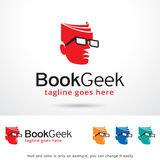 Book Geek Logo Template Design Vector Stock Image
