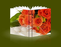 Book of gift for valentine Day Stock Image