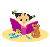 Book and girl Royalty Free Stock Photo