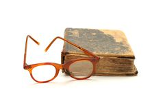 Book and Glasses Royalty Free Stock Photos