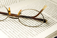 Book and glasses Stock Photo