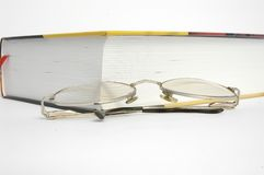 Book and glasses. Everyday objects Royalty Free Stock Images