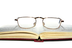 Book and glasses Royalty Free Stock Photo