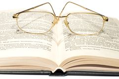 Book with glasses Royalty Free Stock Photography