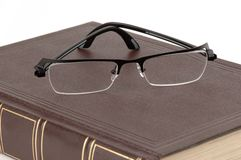 Book and Glasses royalty free stock image
