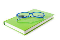 Book and glasses Stock Image