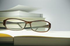 Book and Glasses - Conceptual Stock Photography