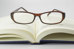 Book and Glasses - Conceptual Royalty Free Stock Photo