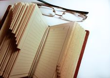 book glasses and pen royalty free stock image