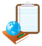 Book and globe Stock Images