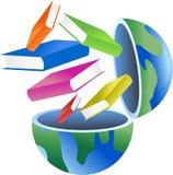 Book globe stock illustration
