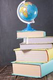 Book and globe Stock Image