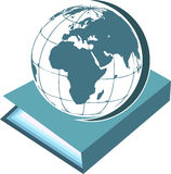 Book with globe Royalty Free Stock Photo