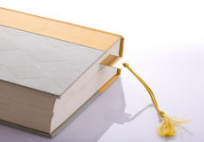 Book with Gold Bookmark Stock Images