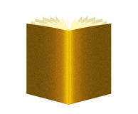 Book of gold, golden over white Royalty Free Stock Photography