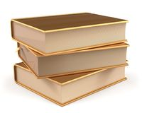 Book gold stack of books covers golden yellow textbooks Stock Photography