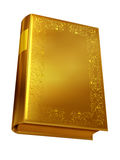 Book. Golden book, blank front, 3d Illustration Royalty Free Stock Photo