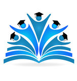 Book and graduates education concept Royalty Free Stock Photography