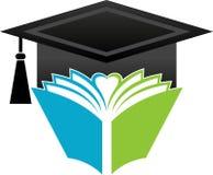 Book graduation cap. Illustration art of a book graduation cap with  background Stock Photos