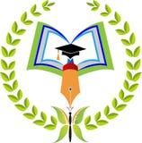 Book graduation logo Stock Image