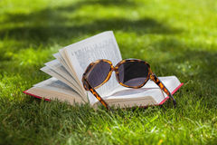 Book on the grass Royalty Free Stock Photos