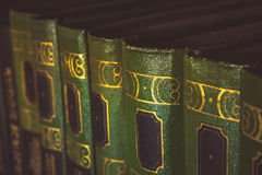 A book with a green cover Royalty Free Stock Images