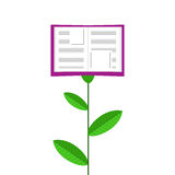 Book Grows Like Flower. Vector Illustration Stock Photography