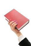 Book in hand Royalty Free Stock Photo