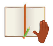 Book and hand Royalty Free Stock Image