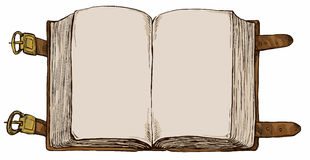 Book - hand drawn background Royalty Free Stock Photos
