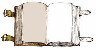 Book - hand drawn background Stock Images