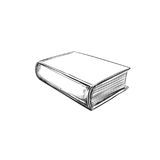 Book. Hand drawn illustration. Sketch style. Royalty Free Stock Image