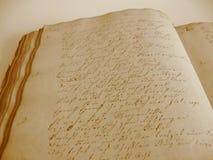 book handskriven ii arkivbilder