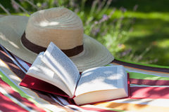 Book and hat Stock Photo