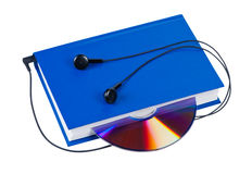 Book with headphones and cd. Stock Photography