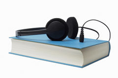 Book and Headphones Stock Photos
