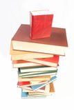 Book heap isolated on white Stock Photography