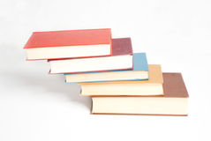 Book heap isolated Stock Photo