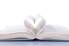 Book and heart Royalty Free Stock Images