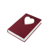 Book with heart Stock Photo