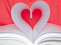 Book with heart. Detail of a book with heart Royalty Free Stock Images