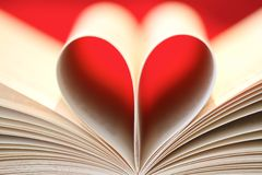 Book heart Stock Photos