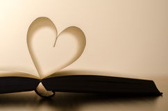 Book heart Stock Image