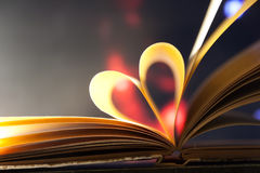 Book heart. stock photo