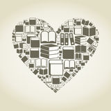 Book heart stock illustration