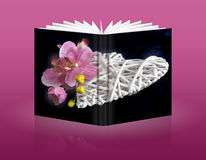 Book of heart for holidays Royalty Free Stock Photography