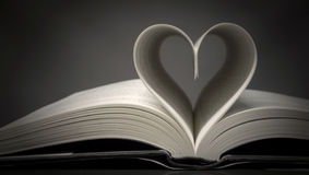 Book heart. Heart made with book pages Royalty Free Stock Photography